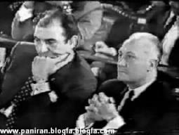 زاهدی وزیر امور خارجه (سمت چپ) و خلعتبری معاون ایشان